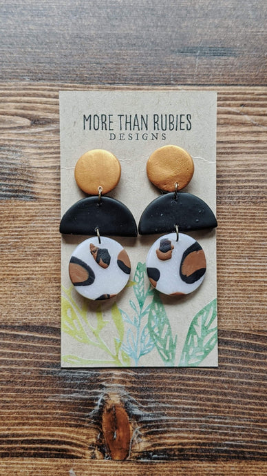 """Sahara""- Polymer Clay Drop Earrings"