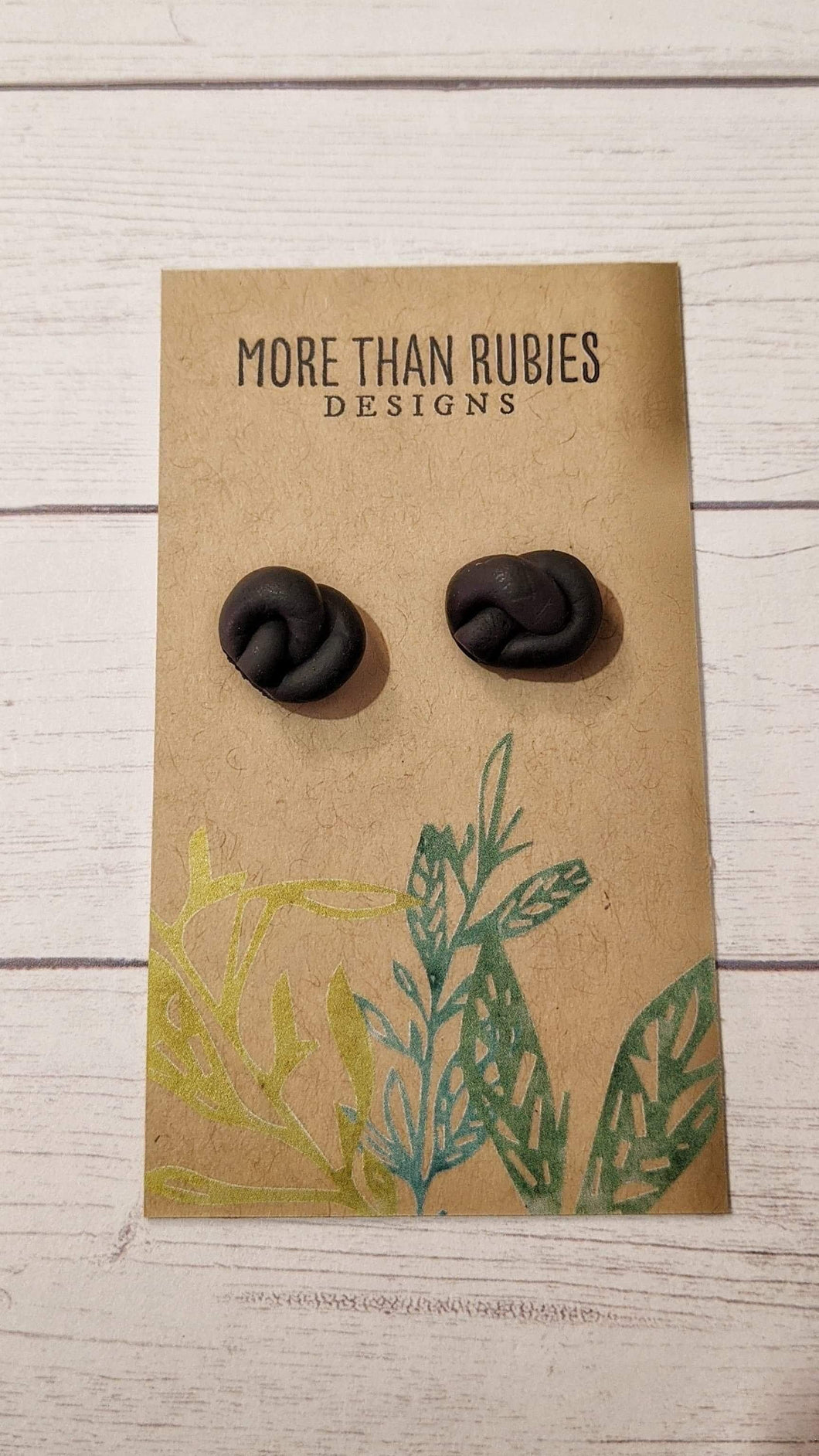 """Knots About You""- Polymer Clay Knotted Studs"