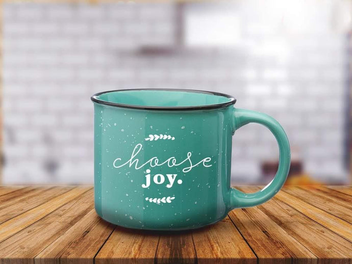 Choose Joy~ 13 oz Ceramic Campfire Mug