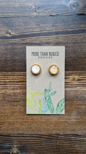 Gold Glitter Druzy - More Than Rubies Designs