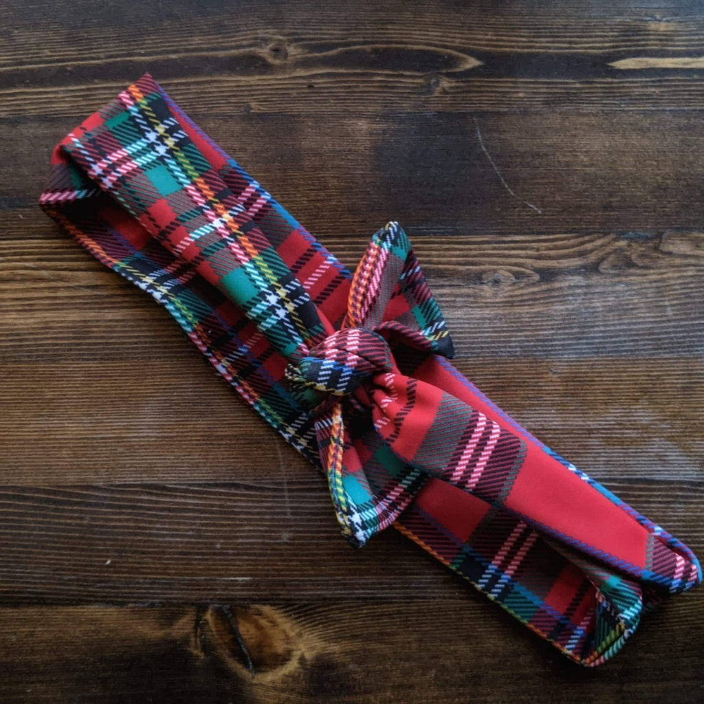 Plaid Stretch Headband - More Than Rubies Designs