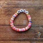 Load image into Gallery viewer, Multicolor Beaded Letter Bracelet - More Than Rubies Designs
