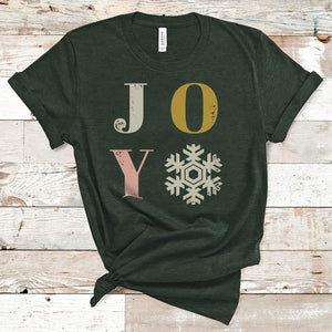 Joy Snowflake Comfy Tee - More Than Rubies Designs