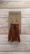 "Load image into Gallery viewer, ""Denver"" Leather Tassel Earrings"