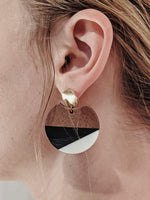 "Load image into Gallery viewer, ""Monroe"" Wooden Drop Earring"