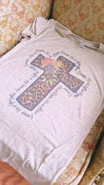 "Load image into Gallery viewer, ""Forever"" Leopard Floral Tee"