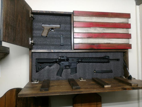 LARGE AMERICAN FLAG WITH TWO STASH COMPARTMENTS