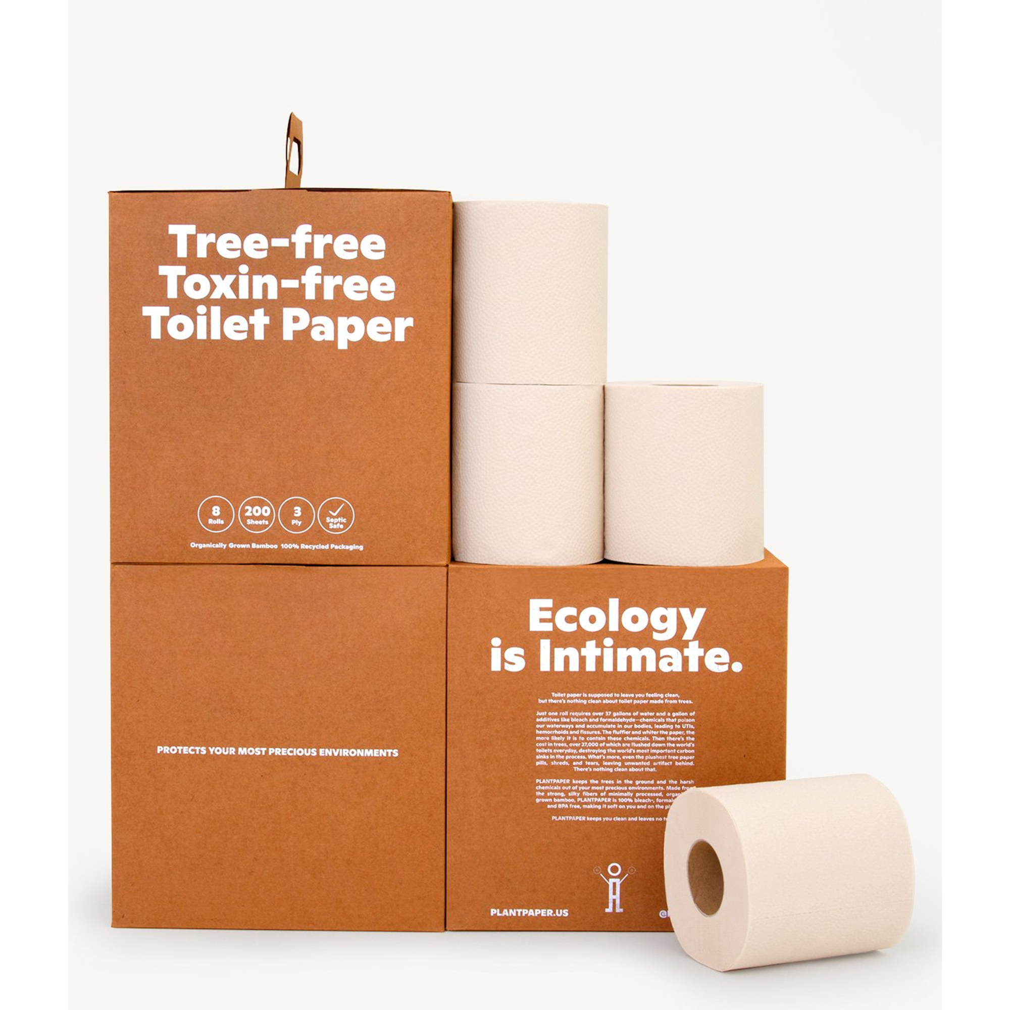 Organic Bamboo Toilet Paper | Plant Paper