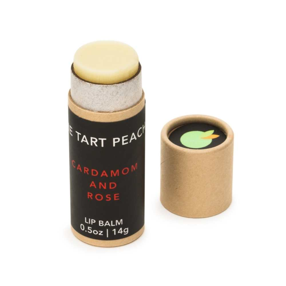 Cardamom & Rose Lip Balm | The Tart Peach