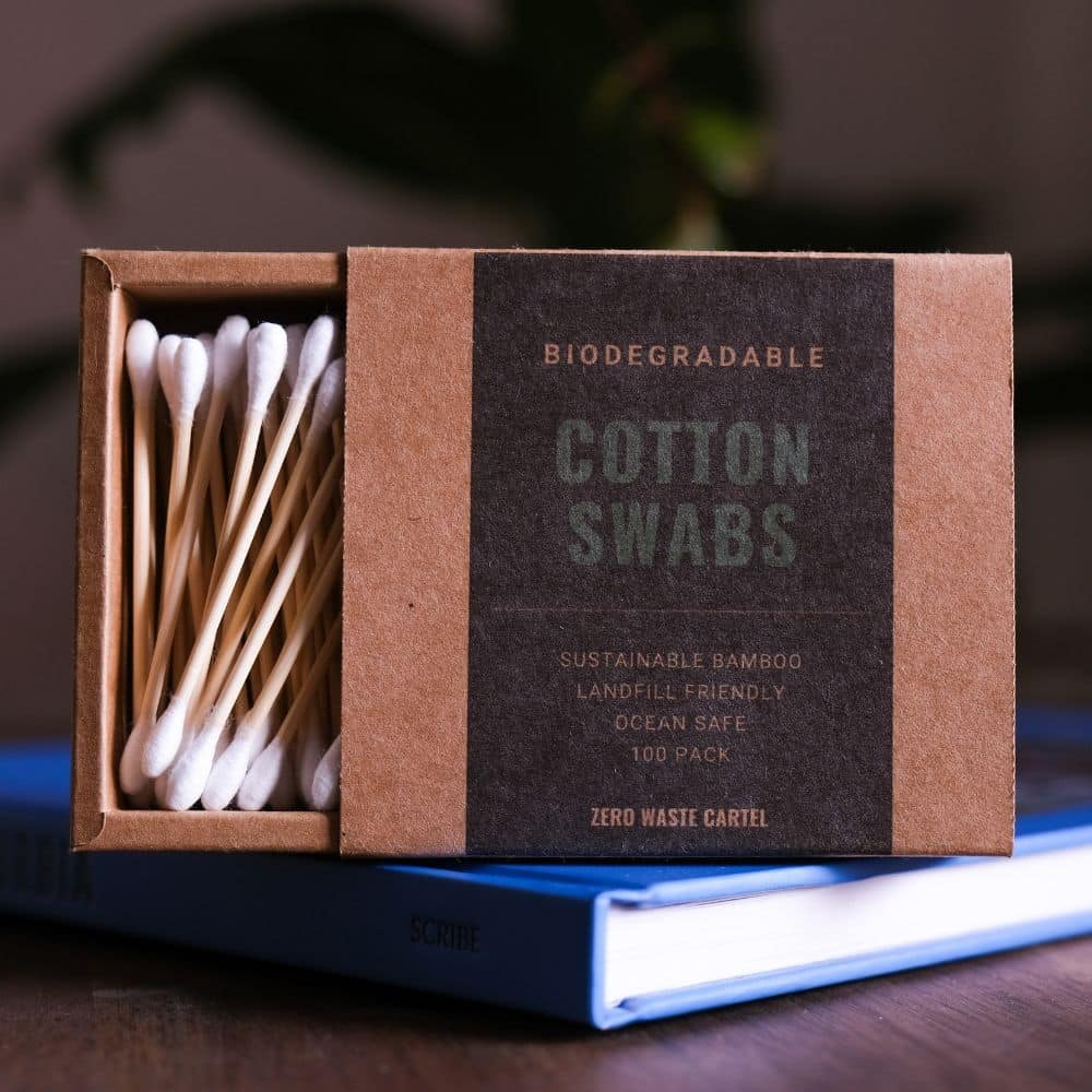 Biodegradable Bamboo Cotton Swabs + FREE Tote Bag