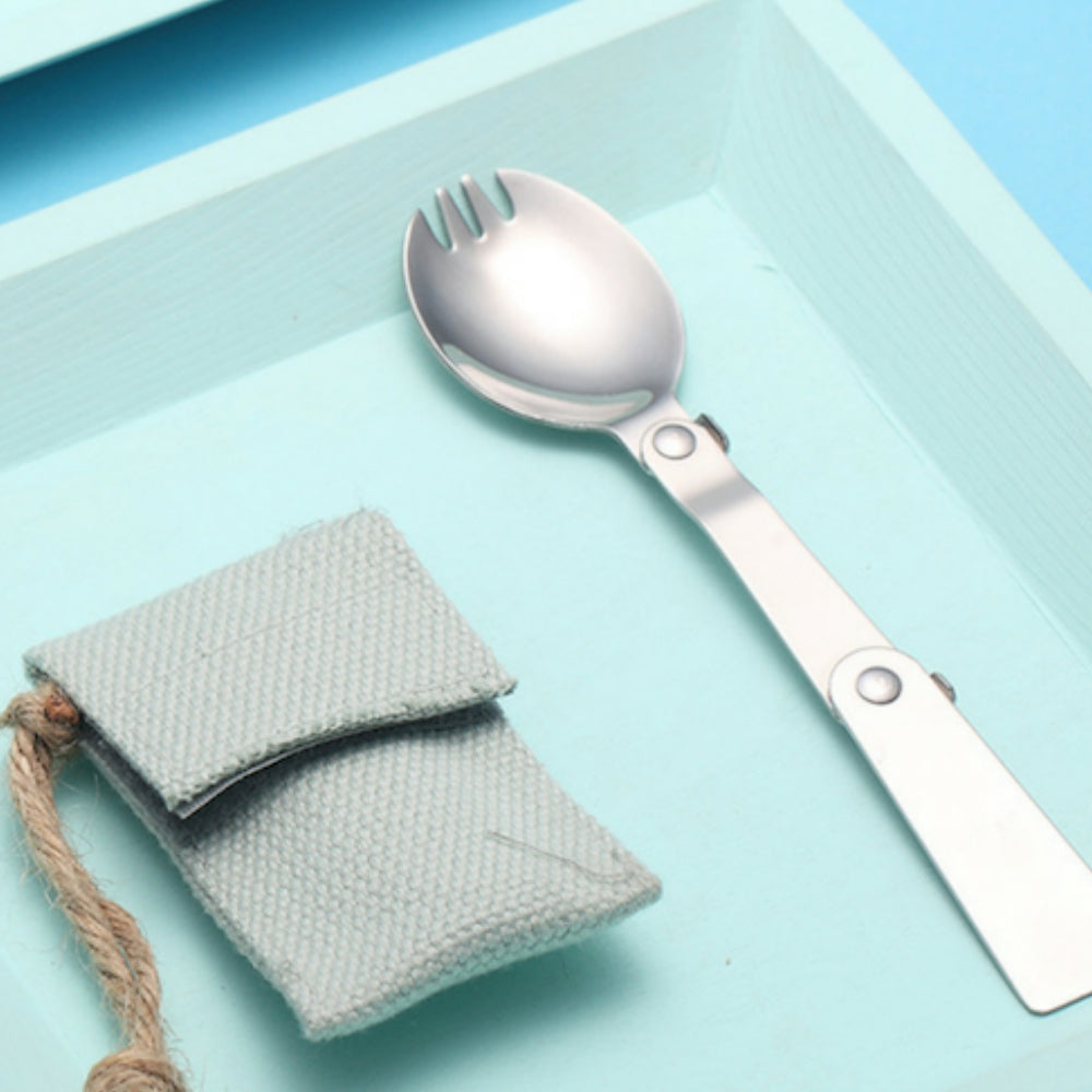 Travel Collapsible Spoon-and-Fork In One