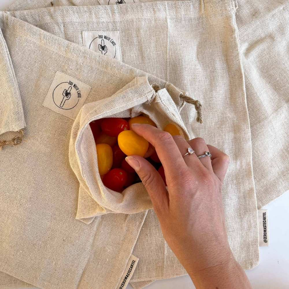 Cotton Veggie Produce Bags (Pack of 7)