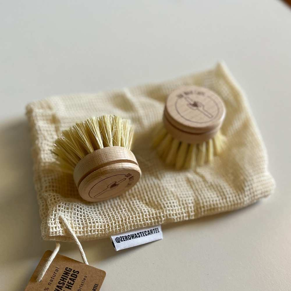 Wooden Dish Brush - Replaceable Heads [2-Pack]