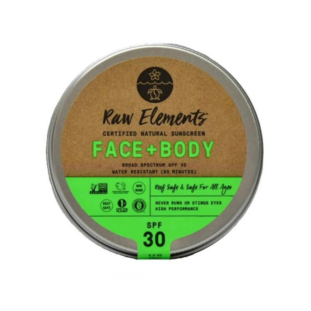 Zero Waste Sunscreen | SPF 30 Face + Body by Raw Elements