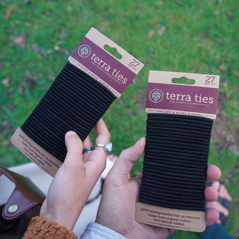 Plastic-Free Hair Ties [27-Pack] - Terra Ties