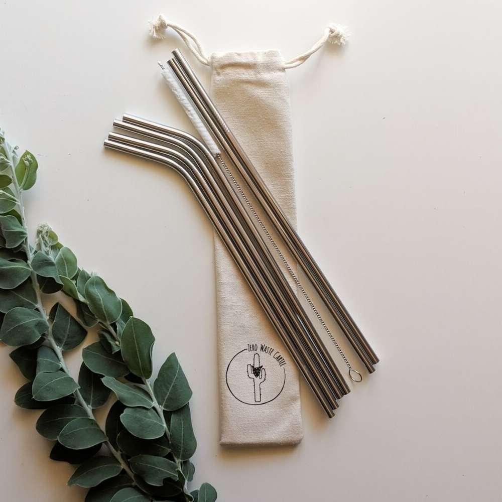 Stainless Steel Drinking Straws - Silver