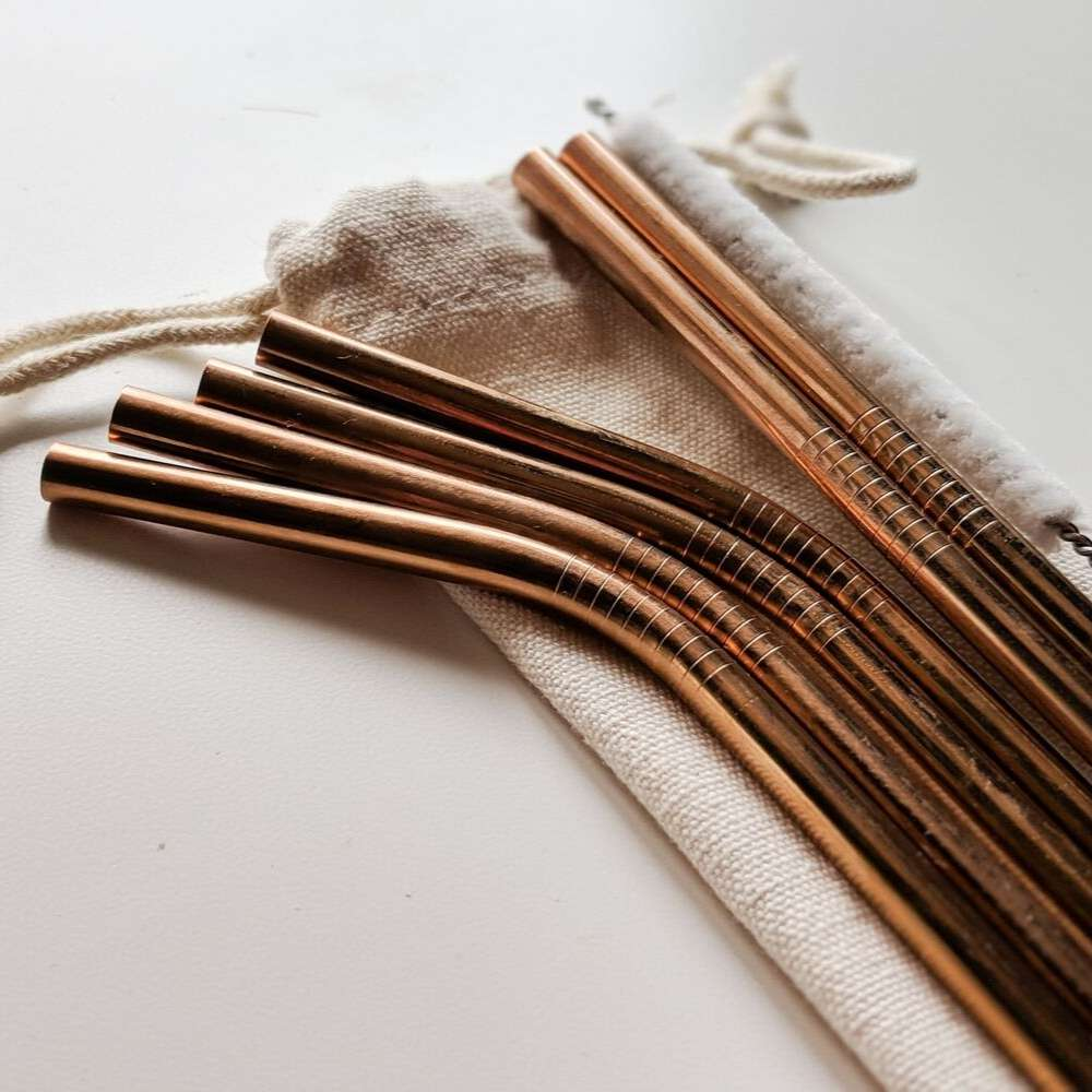 Stainless Steel Drinking Straws - Rose Gold [Limited Edition]