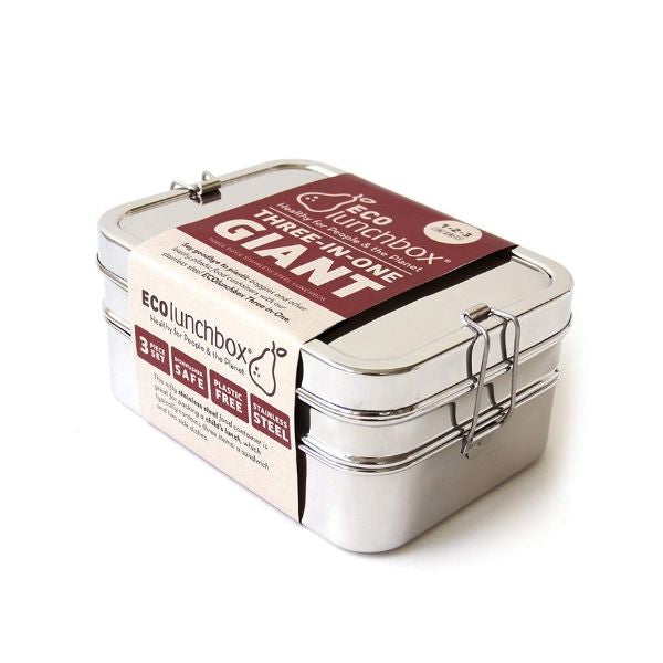 Stainless Steel Lunch Box - Three-In-One Giant
