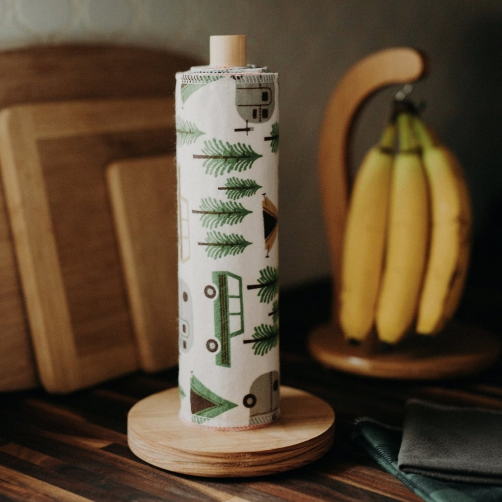 UNpaper Towel + Wooden Holder | Marleys Monsters