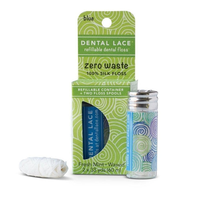 Zero Waste Silk Floss (Blue) - Dental Lace