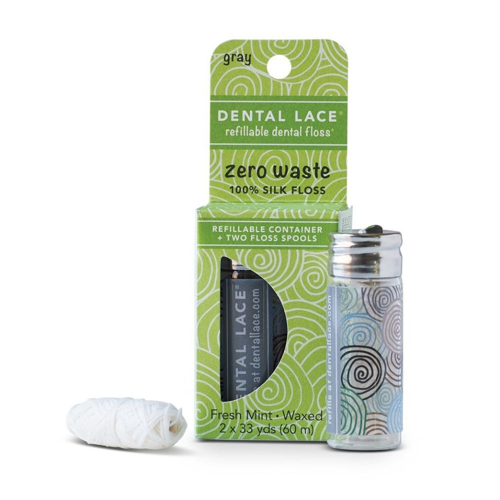 Zero Waste Silk Floss (Granite) - Dental Lace