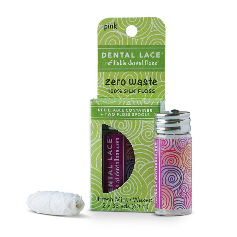 Zero Waste Silk Floss (Pink) - Dental Lace