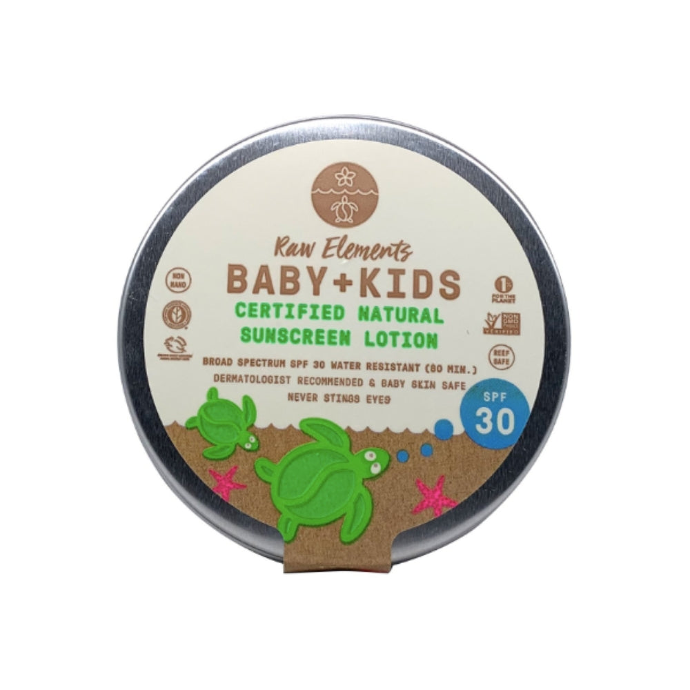 Zero Waste Kids Sunscreen - Plastic Free & All-Natural (Tin) | Raw Elements