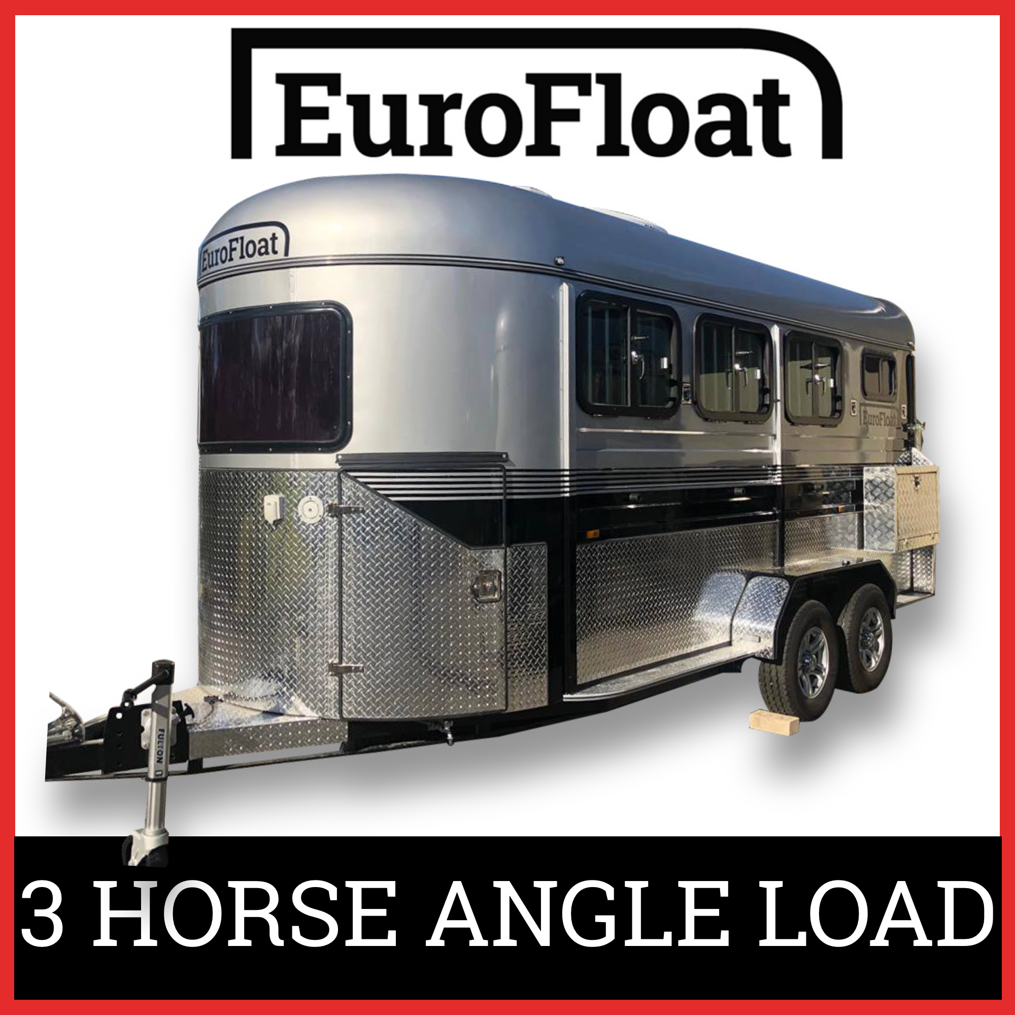 EuroFloat 2 Horse Angle Load Float