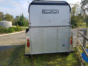 2HSL-L600 - Standard Package + Caravan Door - Eurofloat Horse Float Trailer Sale Hire Angle Straight Load Warm Blood
