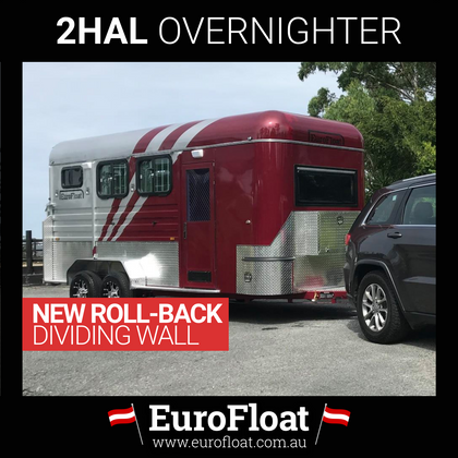 2HAL-Overnighter WB with NEW ROLL BACK DIVIDING WALL Red & Silver