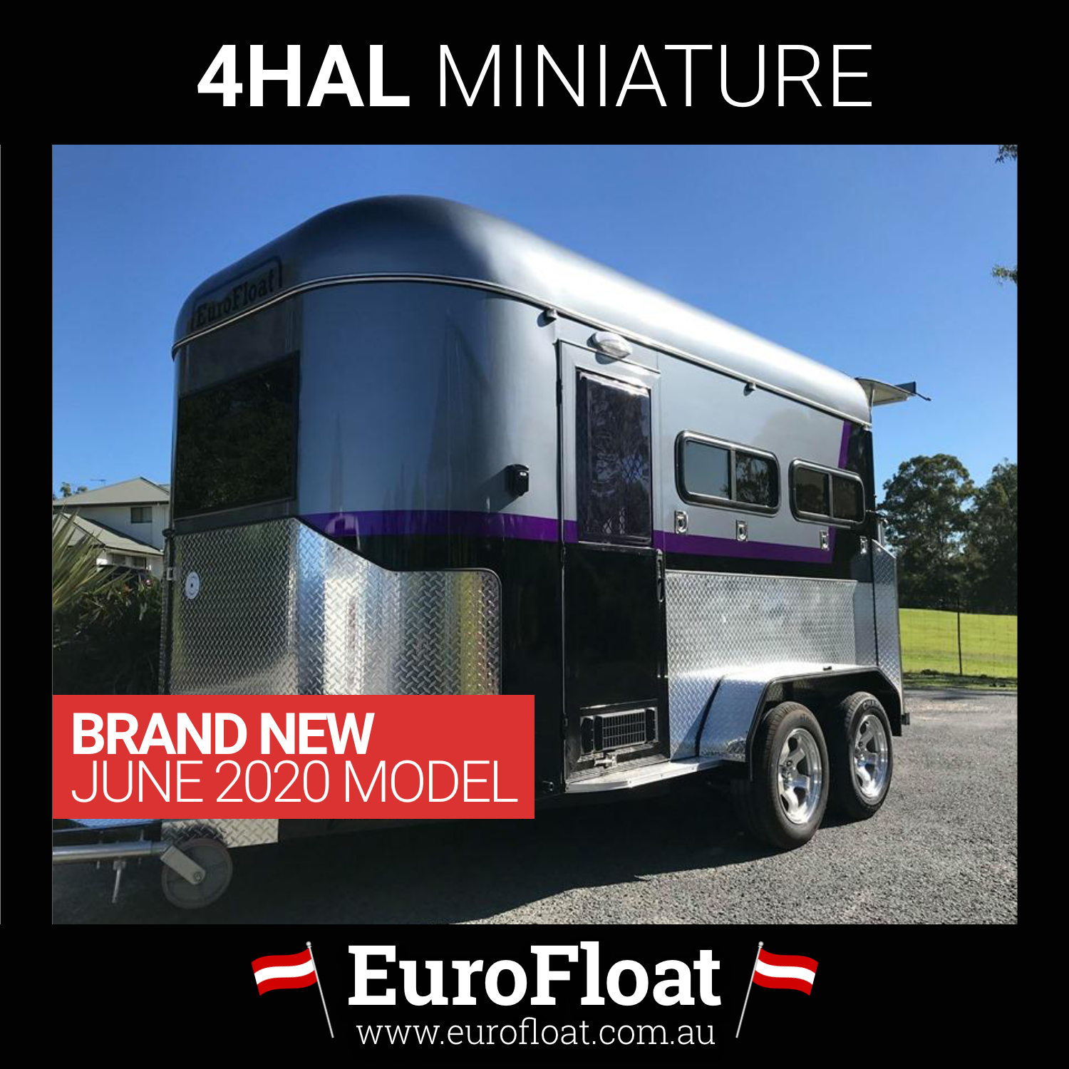 MINIATURE 4 Bay Deluxe NEW Horse Float June 2020 Model
