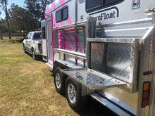 Load image into Gallery viewer, Pink 3HAL-Deluxe October 2019 - Eurofloat Horse Float Trailer Sale Hire Angle Straight Load Warm Blood