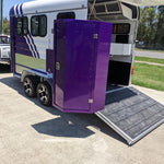 SPECIAL 2HAL-Deluxe PURPLE 2020 - Eurofloat Horse Float Trailer Sale Hire Angle Straight Load Warm Blood