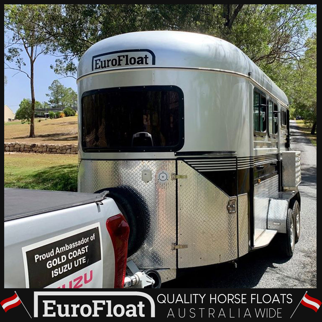 2HAL-Deluxe Second hand 2017 Model - Eurofloat Horse Float Trailer Sale Hire Angle Straight Load Warm Blood