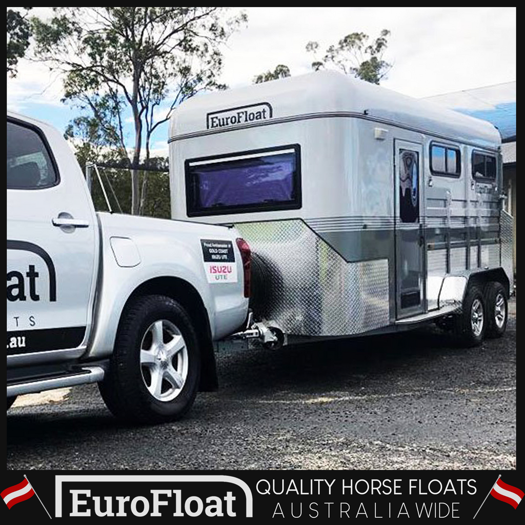 2HAL Deluxe Square Nose L860 Dec 2018 - Eurofloat Horse Float Trailer Sale Hire Angle Straight Load Warm Blood