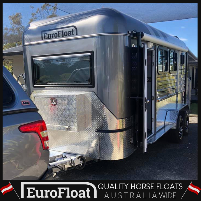 SQUARE NOSE OVERNIGHTER August 2019 Model - Eurofloat Horse Float Trailer Sale Hire Angle Straight Load Warm Blood