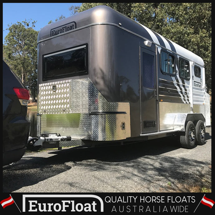 2HAL-O WB OCTOBER 2019 - Eurofloat Horse Float Trailer Sale Hire Angle Straight Load Warm Blood