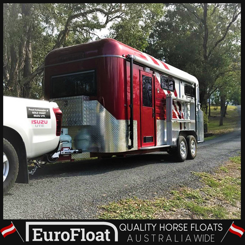 Square Nose 3HAL Deluxe - Eurofloat Horse Float Trailer Sale Hire Angle Straight Load Warm Blood