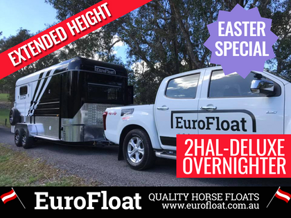 EuroFloat Overnight WB 2020 BLACK PLATINIUM - Eurofloat Horse Float Trailer Sale Hire Angle Straight Load Warm Blood