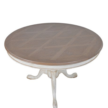 Dordogne Round Drum Top Table with Parquet Top