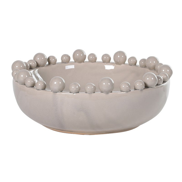 Lily's Bowl with Balls on Rim (Cream, grey or teal)