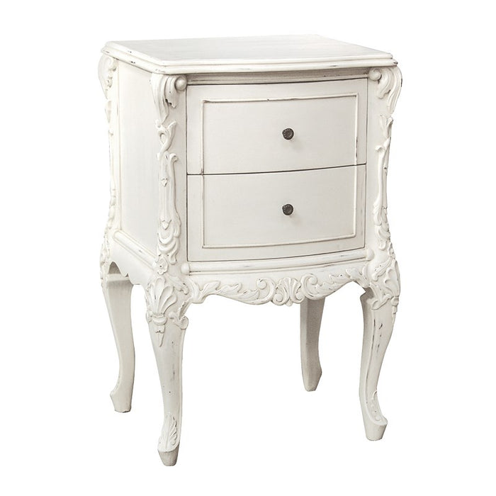 Marseilles Small 2 Drawer Bedside Table
