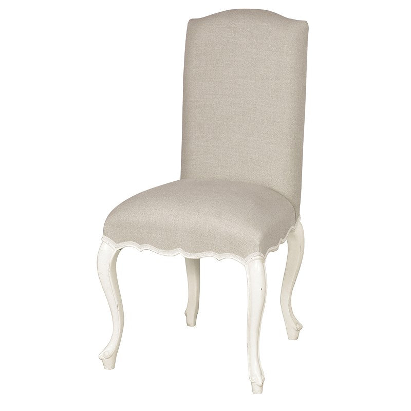 Chateau Style Linen Dining Chair