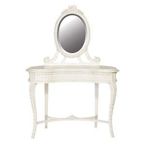 Chateau Style Carved Dressing Table with Mirror
