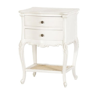 Marseilles Style 2 Drawer Bedside Unit with Rattan Base
