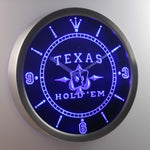 Horloge Texas Hold'Em à LED
