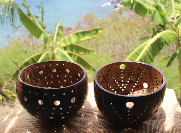 Coconut candle holder - Teiki