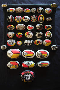 Marquesan magnets (painted)