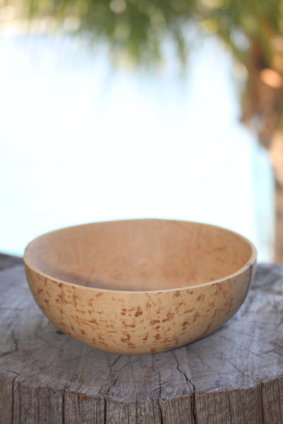 White coconut bowl (shallow)