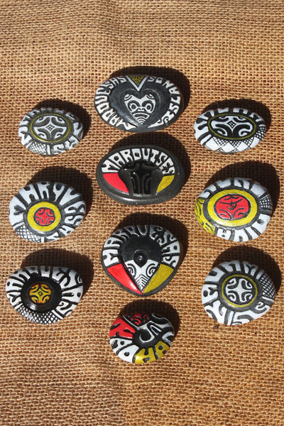 Marquesan magnets (carved)